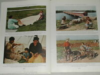 1939 magazine articles on Saguenay River Quebec area people history color photos