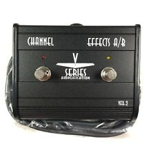V Series Amplification VFX-2 Channel Effects A/B Switch Foot Pedal New W/ Cable