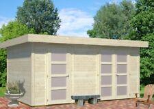 Palmako Gartenhaus Lara 12,7 m² Holz 445 x 295 cm 28 mm Flachdach Gerätehaus