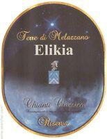 """6 bt. CHIANTI CLASSICO DOCG 2010 RISERVA  """" ELIKIA """"  TERRE DI MELAZZANO"""