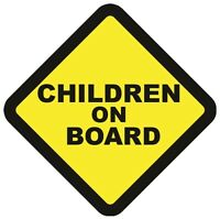 2 CHILDREN ON BOARD WARNING SAFETY SIGN Sticker Vinyl for car vehicle window