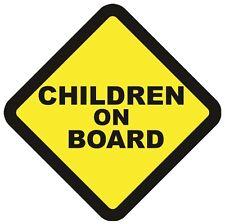 2 CHILDREN ON BOARD WARNING SAFETY SIGN Sticker Vinyl for car vehicle window