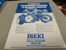1980s ? ISEKI T6500F 4WD  Tractor New Zealand  Sales Leaflet