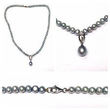 BLU Collana di perle d'acqua dolce 45 cm collier ciondolo goldverschluß 333