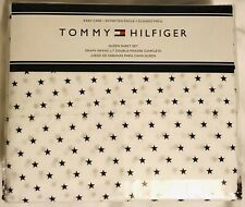Tommy Hilfiger Blue & White Stars QUEEN Sheet Set 4 piece New With Tags!
