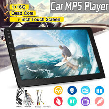 9 Inch 2 DIN 1+16G Car MP5 Player Quad Core Stereo Radio IPS Touch Screen DAB US