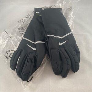 Aerosheild nike womens running gloves Large Black White NEW NWT (J1)