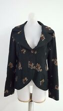 MANILA GRACE ITALY GRAY Embroidered JACKET BLAZER SIZE ITA 44 EUR 40 US 10 M