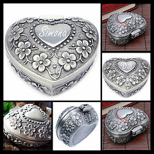 Engraved personalised jewellery box trinket birthday gift