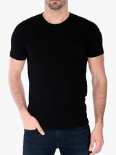 Men's Gem Rock Solid Black Crew Neck T-Shirt Size 4X-Large Lot of (2) Brand New!