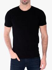 Men's Gem Rock Solid Black Crew Neck T-Shirt Size 5X-Large Brand New!