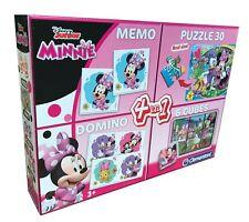 Clementoni Disney Minnie 4 in 1 Puzzle Domino Memory Würfelpuzzle