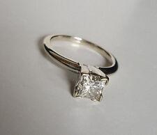 "(RI2)14K White Gold Diamond 0.90TCW Size 4.25"" 2.7g Engagement Ring"