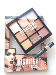 PHOTOSHOOT FACE HIGHLIGHTER MAKE UP GLOW PALETTE & FREE EYELINER PENCIL x 1