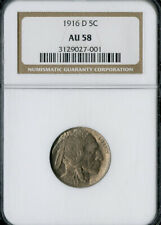 US Coin 1916-D Buffalo Nickel NGC AU58 NO RESERVE!