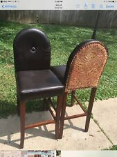 2 Dark Brown Leather Chairs