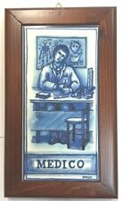 Sicilian Pottery-10x6 Inch Tile Medico.Made/Painted by hand in Italy
