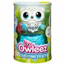 OWLEEZ Interactive Flying Baby Owl Lights Sounds Rechargeable Nest IN HAND White
