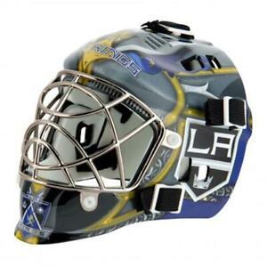 Los Angeles Kings Team Logo Mini Goalie Mask [NEW] Helmet Hockey Puck Plastic
