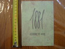 carte publicite parfum 1881 CERRUTI