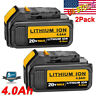 2XReplace for Dewalt 20V Max XR Battery 4.0Ah DCB205 DCB180 DCB204 DCB200 DCB206