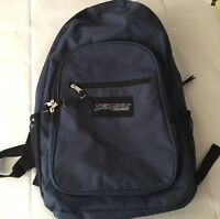 High Trails 16 inch Backpack with Side Mesh Pockets Navy Blue Extra Pockets EUC