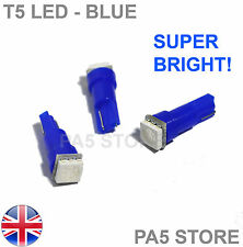 3x T5 Dashboard LED BLUE (3pcs) - Super Bright 5050 Bulbs Quality. UK Post