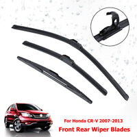 26'' 17'' 14'' Car Windscreen Wiper Blades  Rear Front For Honda CR-V 2007-2013