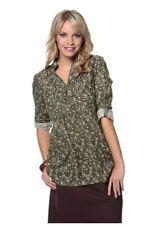 Geblümte Damenblusen, - tops & -shirts im Blusen aus Baumwolle