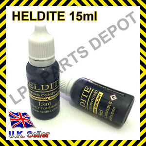 Heldite (15ML) Liquid Gasket Sealant & Thread Lock Tin Pipe Sealer Compound