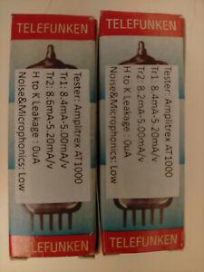Matched pair NOS Telefunken 12AT7 vacuum tubes