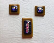 Dichroic Fused Glass Set Jewery Making Art Craft Supplies One Of A Kind Set