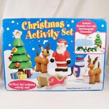 New KidKraft Christmas Activity Set Wood Wooden Toys Santa Tree Reindeer Snowman