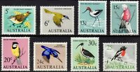Australian MNH 1966 Full Decimal Stamps Set 8x Native Birds Fauna variety Issues