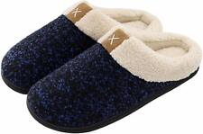 Cozy Memory Foam Slippers with Fuzzy Plush Wool-Like Lining, Slip on Clog House