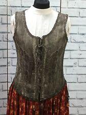 Womens Corset Gothic Tassels Jacket Black Lace Steampunk Victorian Vintage