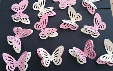 24x Baby Shower , Birthday Table Decorations 3D Butterflies Pink and Yellow
