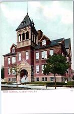 Allentown, Pa Pennsylvania High School c1900s Postcard