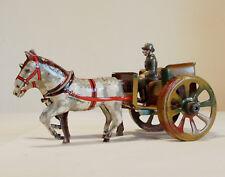 Pferde Gespann aus Blech Militär Kutsche Fischer Penny Toy - schöner Zustand Top