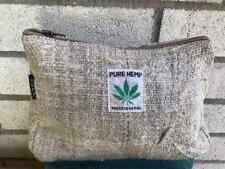 Eco Rucksack THC Free Hemp MakeUp Travel BAG Toiletry Purse Pouch HANDMADE Nepal