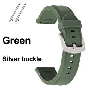 Sport Rubber Watch Strap 18 20 22mm 24mm Silicone Watch Band Waterproof Bracelet