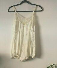 Vintage Cream BodySuit Slip Small