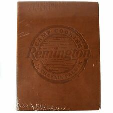 New Sealed Leather bound Remington Camp Cooking Gourmet  Cook Book 120 Recipes