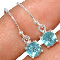 Faceted Aquamarine 925 Sterling Silver Earring Jewelry BE2381