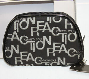 Kenneth Cole Reaction Wallet Clutch Bag Purse Signature Print Logo Black New NWT