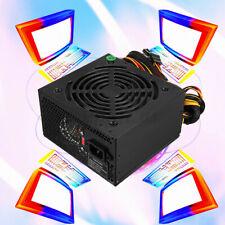 Max 800W Rated 500W Computer Power Supply Gaming PSU PFC 24pin Sata For MAC ATX