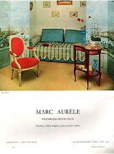 ▬► PUBLICITE ADVERTISING AD Décorateur Marc Aurèle Photo BEYDA 1958