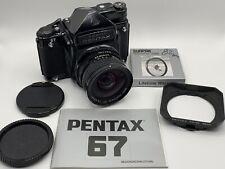 Pentax 67 w Metered TTL Prism + 45mm f/4 lens + hood