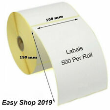 More details for 102 x 150mm 4 x 6 white thermal direct address labels zebra tec labels 25mm core