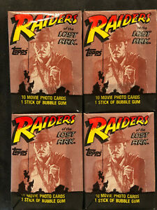 Vintage Raiders of the Lost Ark  Wax Packs - 4 Pack Deal
